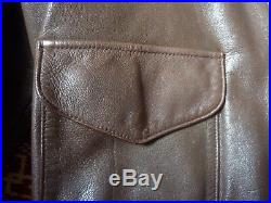 Cooper A2 Brown Flight US Airforce Bomber Leather Goatskin Jacket 42R 42