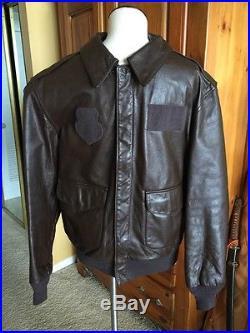 Cooper/SadD. A-2 Brown Flight US Air Force Bomber Leather Goatskin Jacket 40L