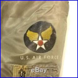 Dobbs MA-1 Military USAF Air Force Flying Bomber Aviator Pilot Jacket Korean War