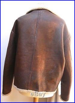 Eastman leather USAF D-1 Jacket 46, Rare Redskin Jacket Size Large @46