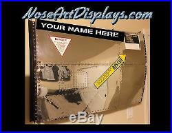 F104 Starfighter reproduction custom fuselage panel from polished aluminum USAF