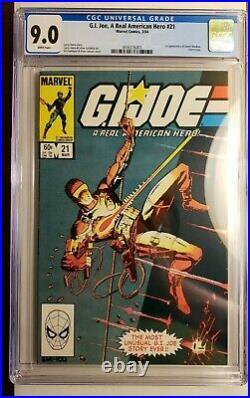 GI Joe A Real American Hero #21 (1984) CGC Grade 9.0 THE SILENT ISSUE