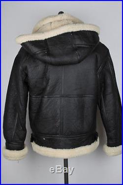 G-8 Type USAF Flight Bomber Dark Brown Leather Shearling Medium mens Jacket Coat