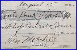 General Billy Mitchell Autograph''Father Of The United States Air Force'Rare