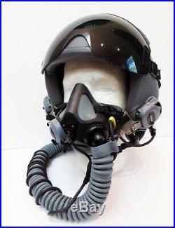 Gentex USAF Pilot's HGU-55/P Flight Helmet, MBU-20/P Oxygen Mask, Size Large