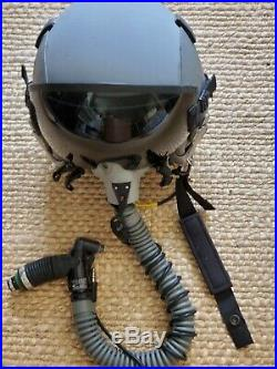 Genuine USAF Air Force Gentex Pilot Helmet HGU-55/P, 12P Mask, CRU-60P connector