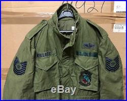 Genuine Usaf Late Vietnam M65 Field Jacket Og 1982 Ex Cond! Large Regular