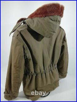 Genuine Vintage USAF B11 Wool Lined Parka Coat Jacket RARE Large 38-40
