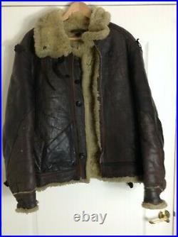 Genuine WW2 RAF / US Air Force Leather B3 SHEEPSKIN FLYING JACKET 42 R
