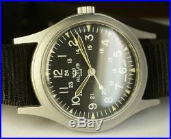 Glycine Altus GG-W-113 USAF Pilots 1986 US Military Vtg Swiss Watch SERVICED