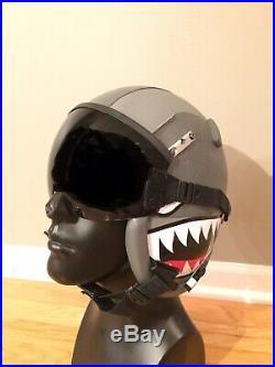 HGU-55 USAF Jet Pilot Flight Helmet size Large with Custom Graphics