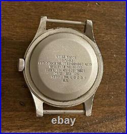 Hamilton 1976 GG-W-113 Khaki Field Hacking Vietnam-era Watch from USAF Col