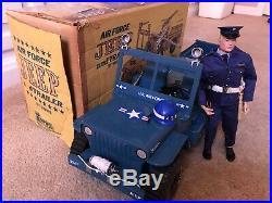 Hasbro 1964 GI Joe 1967 A. S Air Security & 1973 Empire Jeep Air Force USAF Boxed