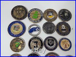 Lot 46 USAF United States Air Force Challenge coins only 3 duplicates