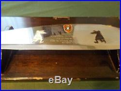 MACV SOG STDAT-158 Presentation SOG Bolo withPlaque, General John W. Vogt USAF RVN