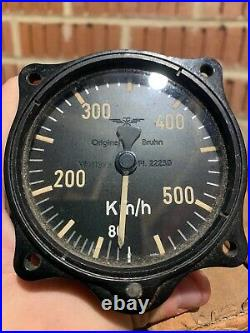 MINT BOXED UNISSUED! WW2 German Airforce Luftwaffe Plane Speedometer Dial