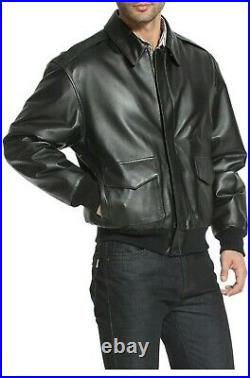Men A-2 Air Force Flight Bomber Genuine Leather Jacket (FAST SHIPPING)