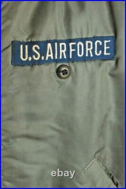 Men's 1969 Vietnam War USAF MA-1 Flight Jacket Large 60s Vtg Air Force Bomber