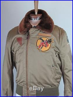 Mint Buzz Rickson USAF B-15A Repro. Tan Cotton Flight Jacket Sz 42 R
