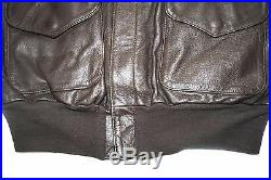 New Us Air Force Usaf Flyers Men's Leather Type A-2 Flight Jacket Size 42r