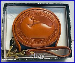 NIBVintageDooney and BourkeRAREAir Force BlueBig Duck Coin Purse21143Y