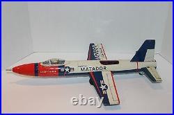 NICE Seldom Seen Tin Bandai Friction Powered USAF Martin Matador Jet Fighter