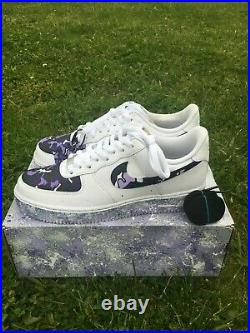 NIKE AIR FORCE 1 CUSTOM PURPLE ALL SHOE SIZES AVAILABLE Fast Shipping