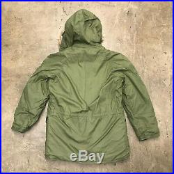 NOS N-3B Parka / RARE / Coyote Fur / COTTON / USAF, Size Small 1972 D-93