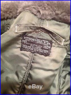 N-2B USAF Flying Cold Weather Flight Jacket 1964 Vintage N2B size Large