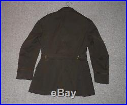 Named US Army 8th Air Force Officers OD Service Dress Jacket Combat Pilot Wings