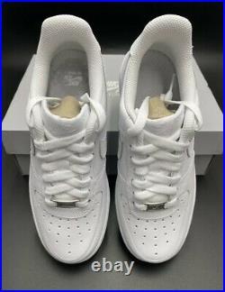 Nike Air Force 1'07 Low Triple Men's Size 8 White CW2288-111