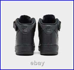 Nike Air Force 1'07 Triple Black Mid 315123-001 Mens Size 8-14 AF1 Uptown