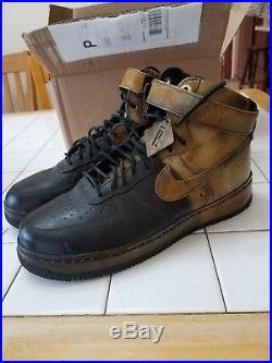 new arrival af776 bd86e Nike Air Force 1 Hi Pigalle NG CMFT LW Black Brown Leather Size 11 677129-