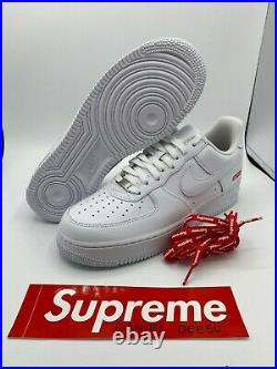 Nike Air Force 1 Low Supreme White (CU9225-100) Size 9, 9.5, 12 US Men's