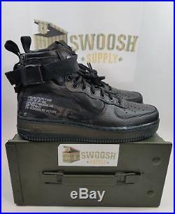 Nike Air Force 1 SF AF1 Mid Urban Utility Black Tiger Camo QS AA7345-001 Size 15