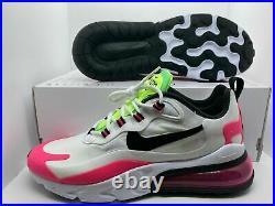 Nike Air Max 270 React White Pink Black Women's Shoes Gym CJ0619-101 Size 7.5