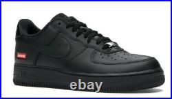 Nike x Supreme Low Air Force 1 Black CU9225-001 Size 11 Confirmed Order