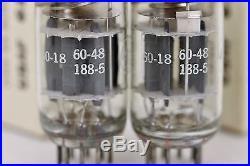 Nos Usaf 6189 12au7-wa Ecc802s Air-force Tube Pairs Perfect Triple-mica New 1960