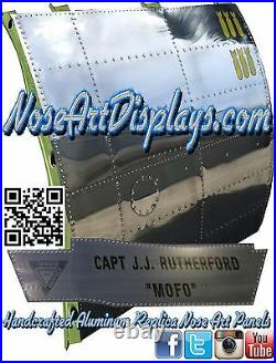Nose Art Aircraft Polished aluminum panel B17 Flying Fortress Bomber USAF 48x48