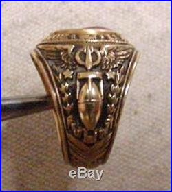 Original 1943 Wwii 10k Gold Us Army Army Air Force Bombardier Ring