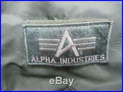 ORIGINAL ALPHA INDUSTRIES USA USAF CWU 45 P bomber pilot aviators ma1 JACKET L