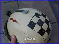 Original Vintage Usaf P4-a Flight Helmet Named