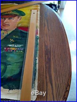 Okinawan Artist Seikan Omine Brilliant Lt Hubbs USAF Canvas Painting Post WWII