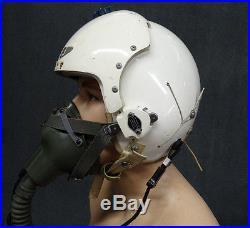 Original 1963 USAF HGU-2A/P Flight Helmet Size Medium & MBU-5/P Oxygen Mask