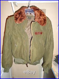 Original B15 Flight Jacket Lot WW2 Army Air Force size 34, SCTA, B-15 WWII B24