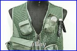 Original COMPLETE USAF SRU-21/P Pilot Survival Vest Kit Strobe Compass Vietnam