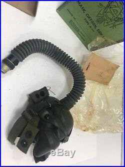 Original Oxygen Mask A-14 WW2- Medium us Air Force pilot dated NIB