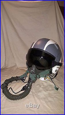 Original USAF H-22/P jet pilot helmet complete Sierra MBU5/P mask