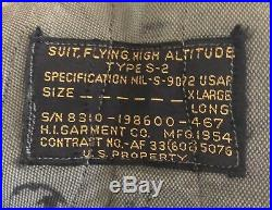 Original USAF S-2 Partial Pressure Suit, Extra LARGE LONG 1954 B-36