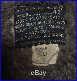 Original US WWII AAF Army Air Force B-11 B11 Parka Size 42 RARE